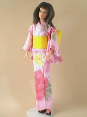 My handmade 03a (Dynamite Dollz) Tags: vintage living mod handmade barbie kimono