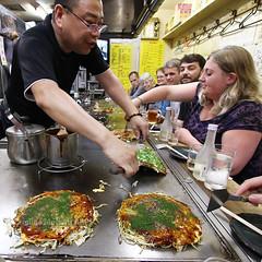 Serving Up (cazphoto.co.uk) Tags: cooking japan restaurant hiroshima okonomiyaki   canoneos7d canon1022mmefsf3545usm