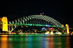 sydney 1 (rideritaliano) Tags: bridge night nikon harbour oz sydney australia pont nuit vr australie 18105 d7000
