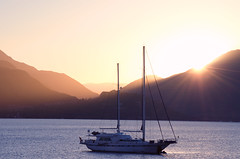 Sunrise in Marmaris (C-Dals) Tags: sailboat sunrise turkey boat nikon goldenhour marmaris 55200mmf456gvr mediterranensea d5100 trip2012
