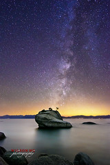 Milky Way over Bonsai Rock (wilson_ng) Tags: california lake tree nature rock night dark stars landscape long exposure glow ambientlight nevada fineart tahoe laketahoe boulder galaxy gradient bonsai stillwater milkyway airglow bonsairock wilsonng wilsonngphotography wilsonphoto