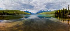 Bowman Lake (John Sieber) Tags: panorama lake montana lakes glaciernationalpark mountainlake northfork mountainlakes gnp bowmanlake