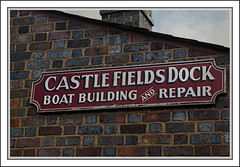 Boat Repair Dock (Audrey A Jackson) Tags: history sign wall bricks letters dudley thegalaxy me2youphotographylevel1 canon450blackcountrymuseum chi8mney