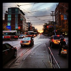 monday evening, college and bathurst (Josh Jensen) Tags: street toronto ontario canada college square evening traffic dusk ttc squareformat transit intersection streetcar bathurst hefe 4s iphone iphoneography instagramapp uploaded:by=instagram