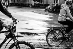 Bicycles in rain (newfilm.dk) Tags: rain bike bicycle puddle bikes raining