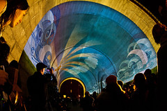 The Show and the Crowd (john.paul.robinson) Tags: canon arts dumbo sigma fisheye f28 dumboartsfestival 40d