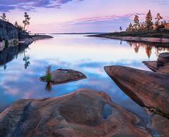 Karelia (Konstantin_Voronov) Tags: sunset sea sky water rock stone clouds landscape russia karelia 5dmk2