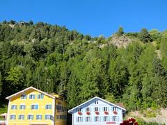 Nordic colors (Riex) Tags: houses homes colors forest schweiz switzerland colours suisse maisons foret grisons tiefencastel graubunden s95 canonpowershots95