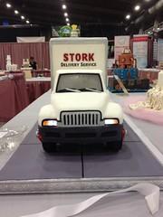 Stork Delivery Truck Cake (RDPJCakes) Tags: cake sculpted ossas rdpj cakesfondant3d