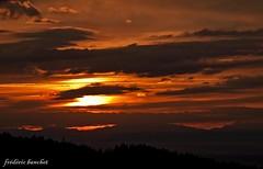ciel noir orange (Différents Regards - Fred Banchet) Tags: nature soleil ciel nuage paysage rhonealpes parcdupilat