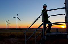 An operator on BP's Cedar Creek 2 wind farm in Colorado, US (BP_images) Tags: colorado bp windfarm cedarcreek newraymer uswind