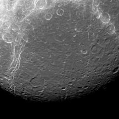 A Moon's Contrasts (NASA's Marshall Space Flight Center) Tags: nasa nasasmarshallspaceflightcenter nasamarshall marshall cassini jetpropulsionlaboratory saturn moons solarsystem