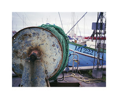 ** (ha*voc) Tags: mamiya7ii 65mm 220 mediumformat 6x7 rangefinder film fujinps160 urban urbanfragments industrialfragments port denmark faaborg