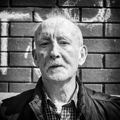 From Dublin (http://thomasthorstensson.photography) Tags: story portrait face expression character day 2016 explore xf23mm14r summer waiting monochrome local honest alone august brixton communication urban human fujifilmxt1 eyes bw blackandwhite borough citified city consider daylight daytime detached fallible forlorn mortal probe solo town london