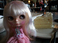 Have your cake and eat it too..... (simplychictiques) Tags: blythe ooakblythedoll customblythedoll shabbychic jodiedollscustom grumpy pout adorable frecklesandpout airbrushfaceup cake lilleprincessdress chapsrestaurant spokanewashington blytheouting pretty pastels floss