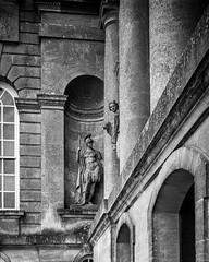 Pointing Statue (alasdair.matthews) Tags: film bw monochrome mpp micro technical 5x4 4x5 blenheim palace country house park schneider sch statue
