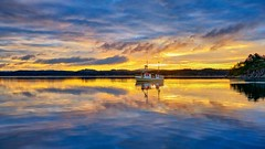 Ryksund, Norway (Vest der ute) Tags: g7x norway rogaland ryksund seascape boat sunrise clouds earlymorning fav25 fav200