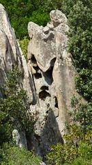 faccia nascosta dentro la roccia (Sandro Dei) Tags: rockface faccia