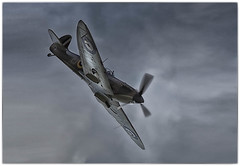 Spitfire over Stoke Bruerne in Explore 17.9.16 (Andrew Henning Photography) Tags: spitfire raf stoke bruerne war fighter plane