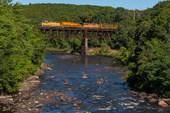 Millers River by Morning (sullivan1985) Tags: newengland railroad train massachusetts ma necr 611 necr611 bridge emd electromotive freighttrain millersriver