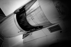 Private jet engine (sydbad) Tags: private jet engine canon 5dmarkii 5dmk2 sigma sigma35mmf14dghsm blackandwhite