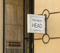 messy head (stevefge) Tags: krakow poland funny street signs reflectyourworld