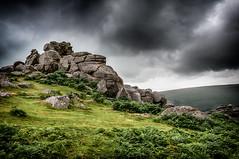 Stormy sky over Bonehill Rocks_Nik-9665 (Jean Fry) Tags: bonehillrocks dartmoor dartmoornationalpark devon englanduk moorland nationalparks skies uk westcountry clouds moodyskies rainclouds rocks
