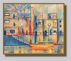 Joseph M. Augl, 1977:  Reston-2 (Walter A. Aue) Tags: josephmaugl paintings malerei gemaelde restonvirginia