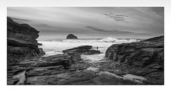 Is it Safe (Nick green2012) Tags: seascape 21 surfer trebarwith strand