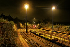 Vuosaari Harbour (timo_w2s) Tags: vuosaari harbour railway night yellow