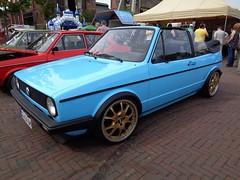 VW Golf 1 Cabriolet (911gt2rs) Tags: treffen meeting show event mk1 cabrio blau blue karmann tief low stance convertible