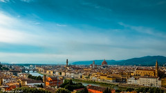 Florence Landscape (Alessio Catelli) Tags: florence firenze tuscany toscana landscape paesaggio sky clouds river arno cielo nuvole piazzale michelangelo view daylight italy italia fuji xe1xf1855 travel viaggio