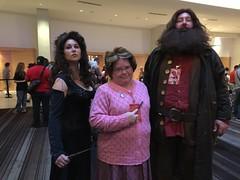 Bellatrix Lestrange, Dolores Umbridge, Hagrid (marakma) Tags: bellatrixlestrange umbridge hagrid harrypotter cosplay dragoncon2016