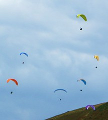 Hang-gliding in Rhossili (jackiebishop2005) Tags: hang gliding rhossili gower south wales