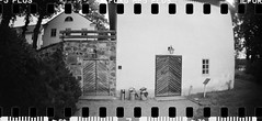 2016-08 - 069SR - DSC_9988 (sarajoelsson) Tags: sprocketrocket blackandwhite bw panorama panoramic sprocketholes digitizedwithdslr toycamera ilford sweden 135 35mm 2016 hp5 monochrome plasticlens everydaylife filmphotography filmisnotdead believeinfilm filmshooter film wideangle biskopsarn hc110 lomography lomo summer august