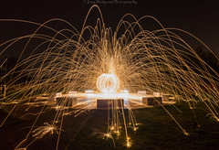 Fire Starter (Joey Hodgson *lost everything, now re-uploading*) Tags: wirksworth england unitedkingdom uk wirewool spinning night nightscaping wirksworthstardisc sparks fire sony sonya55 sonycamera a55 landscape landscapephotography photography joeyhodgsonphotography