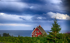 Sunset Light (Danny VB) Tags: sunsetlight sunset colored house gaspsie summer redhouse clouds canon 6d 30mm maisonrouge qubec canada atlantic 132