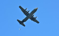 Hercules Aircraft (Explored) (tsbl2000) Tags: raf herculesaircraft military englishchannel parachute militaryexercises swanagebay
