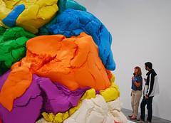 NOW: Jeff Koons, at the Newport Street Gallery (neil mp) Tags: now jeffkoons newportstreetgallery damienhirst koons art sculpture playdoh aluminium polychrome celebration