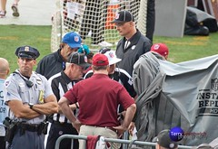 Referees go to Instant Replay camera to verify call. ((4+ million views)) Tags: camera field football nfl maryland professional instant fedex replay referees preseason washingtonredskins landover indianapoliscolts