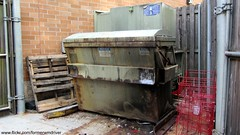 Front load compactor dumpster (FormerWMDriver) Tags: trash dumpster garbage can bin collection container rubbish waste refuse sanitation compactor 1920x1080