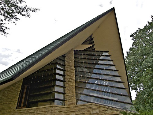 View Of Unitarian Meeting House, Madison, Wisconsin, Frank Lloyd Wright,  Architect