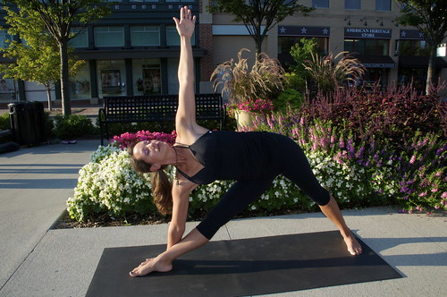 YOGA Triangle Pose_ Staci Alfes by TownePost Network, on Flickr