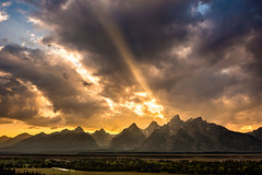 Power of Beauty ~ Grand Tetons ~ Photo ~ Nikon D800 ~ Mountains (Dan Ballard Photography) Tags: park light sunset usa clouds photography photo god top grand images best beam national workshop rays wyoming tetons galley