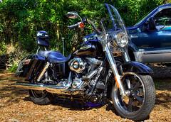 the gunslinger's new bike (sodapop curtis) Tags: light black bike photoshop natural outdoor harley chrome motorcycle hd shiney davidson processed hdr 2012 switchback dyna photomatix