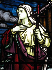 Detail of a Stained Glass Window in the St Peter the Mariner Chapel; the Mission to Seamen - Flinders Street, Melbourne (raaen99) Tags: blue red woman building green church window yellow architecture lady female club hotel inn memorial purple cross harbour interior lodging religion sailors australia melbourne chapel courtyard victoria staff historical recreation nautical 1910s shelter 20thcentury stainedglasswindow edwardian flindersstreet 30s 1917 1900s 1930 flindersst anglicanchurch welfare 1916 moh leadlight seamen placeofworship spanishmission seafarer churchwindows satinedglass twentiethcentury melbournearchitecture anglicanchapel spanishmissionstyle leadlightglass edwardiana spanishmissionarchitecture inmemorandum walterbutler missiontoseamen melbourneopenhouse hostlery architecturallydesigned openhouse2012 moh2012 melbourneopenhouse2012 missiontoseamenbuildings stpeterthemarinerchapel harbourlightsguild ladiesharbourlightsguild ethelaugustagodfrey