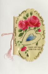 Rosh Hashanah greeting card (Center for Jewish History, NYC) Tags: flowers rosh hashanah happynewyear greetingcards jewishholidays