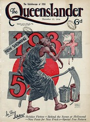 Illustrated front cover from The Queenslander December 27 1934