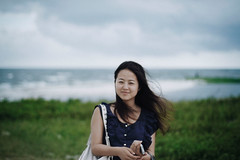 Breeze (smithmakaay) Tags: sea water girl freedom dof chinese breeze potrait beihai  guangxi