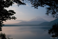 Lake Motosu Japan AM05:36 (Issey Niwa) Tags: lake green water japan sunrise nikon fuji country motosu d90